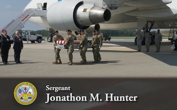 Dignified Transfer -- Army Sgt. Jonathon M. Hunter and Army Spc. Christopher M. Harris