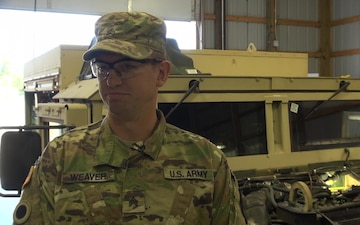 Michigan National Guard Soldiers Conduct Maintenance on Military Vechicles
