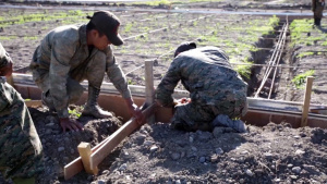 SPMAGTF-SC Marines work with Guatemalan counterparts on infrastructure improvement projects