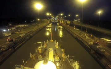 USCGC Tampa Panama Canal Time-Lapse Video