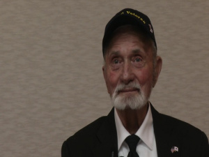 WWII Marine veteran returns ancestral flag to Japanese family (Interview - Strombo)