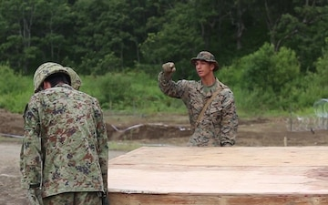 U.S. Marines integrate with Japanese Ground-Self Defense Force on demolition range during Northern Viper