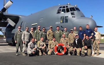 New York Air National Guard's 106th Rescue Wing Pararescue Team perform rescue aboard the Tamar