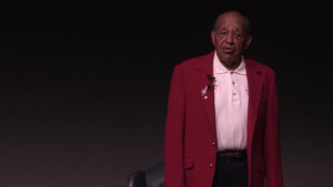 Tuskegee Airman Visits with Airman of Maxwell