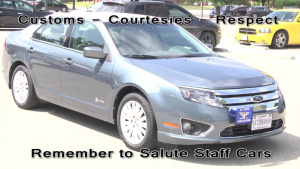 SALUTING STAFF CARS