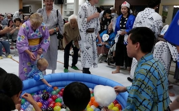 Marine Corps Air Station Iwakuni shares festival with local nursing home residents