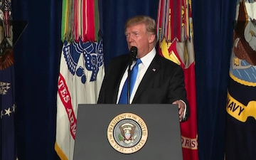 President Donald J. Trump remarks on SW Asia Strategy