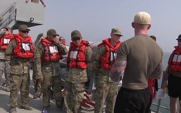 411th Transportation Detachment Drown Proofing Training
