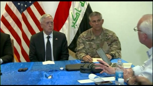 Mattis, Townsend, McGurk Brief Reporters in Iraq