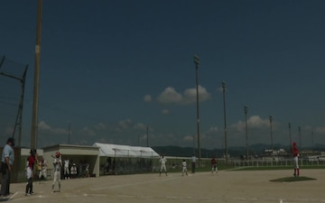 THE IWAKUNI SANDLOT: American, Japanese students play friendly baseball game (B-Roll)