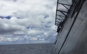 USS Coronado Harpoon Missile Launch Clip 5