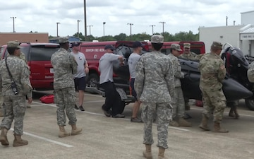Texas Soldiers prepare for Hurricane Harvey