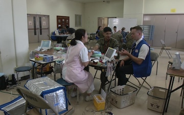 American, Japanese Red Cross Collects Blood for Japanese Hospitals (Package/Pkg)
