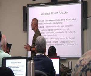 Marines, Civilians Attend Security+ Training (Package)