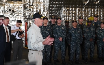 SECNAV Visits USS Gabrielle Giffords