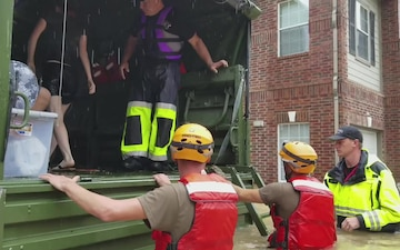 Texas Army National Guard Soldiers Rescue Residents of Flooded Areas
