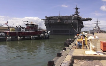 USS Wasp Leaves Naval Station Norfolk