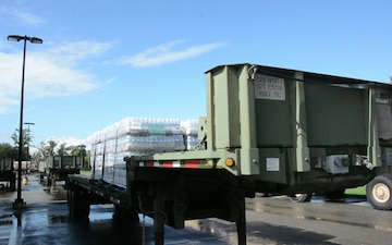 B-Roll...Louisiana Guardsmen provide commodities to distribution points for Harvey relief