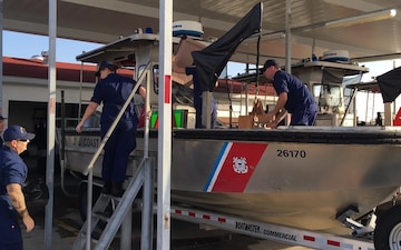 Coast Guard Aids to Navigation Team St. Petersburg deploys to Houston