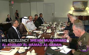 Mattis, Kuwaiti Leader Discuss Regional Stability
