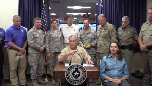 Officials Brief Reporters on Hurricane Harvey