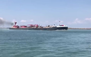 Vessels transit into the Port of Corpus Christi