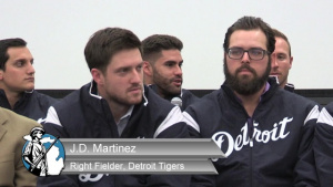 Detroit Tigers Visit Selfridge ANGB