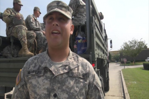 Hurricane Harvey Support SPC Kyle Wampler (712th MP) Interview