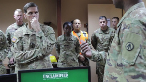 GEN Votel Visits Soldiers At Port Shuaiba