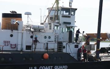 U.S. Coast Guard Cutter Smilax Relocation B-Roll