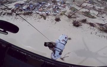 CBP Air and Marine Operations Aircrew Conducts a Rescue Mission