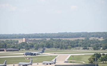 C-5 Galaxy lands at Scott AFB