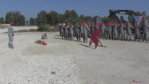 9/11 Commemoration Ceremony during Exercise Related Construction Deployment Field Training in Israel