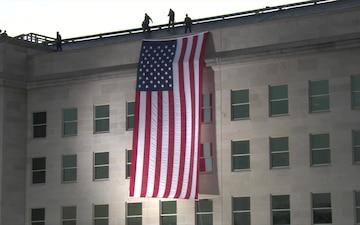 9/11 Pentagon Memorial Ceremony - Flag Unfurling