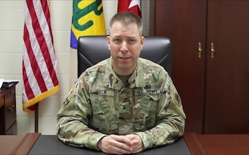 103rd Expeditionary Sustainment Command Commanding General Message