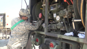 156th Brigade Engineer Battalion rolls out in support of Hurricane Harvey