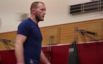 B-Roll MMA Fighters Host Clinic Aboard Camp Hansen
