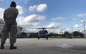 Air Force Reservists take off for search and rescues after Hurricane Irma