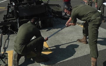 """Expeditionary Airfield Systems Technicians Install """"Bird"""" Catching Gear (Package/Pkg)"""