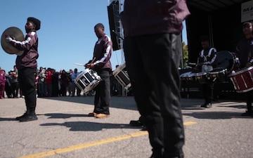 Marine Week Detroit: Drum Line Competition (B-Roll)