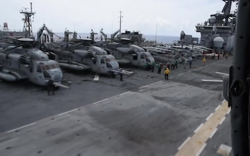 USS Kearsarge and MEU Readies for Hurricane Relief Efforts