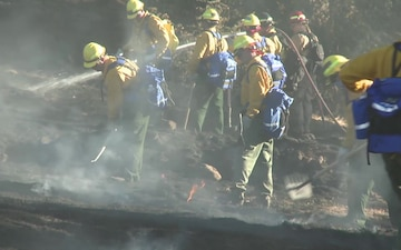 Oregon National Guard trains to fight wildfires Part 3