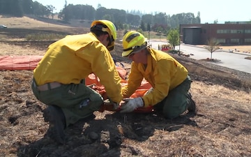 Oregon National Guard trains to fight wildfires Part 1