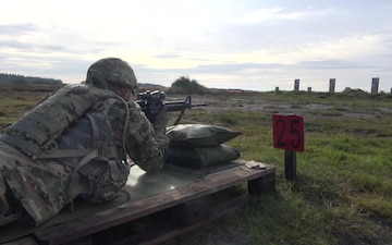 B Co 1-125 IN Conducts M16/M4 IWQ (Weapons Qualification) in Denmark at Viking Star 2017