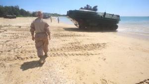 Female Corpsman Attaches to Combat Unit