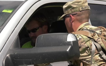 B-Roll: Red Arrow Soldiers conduct traffic control point operations