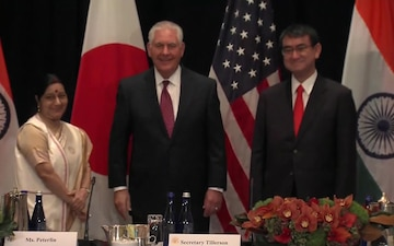 State Department Officals Meet with Indian External Affairs Minister and Japanese Foreign Minister