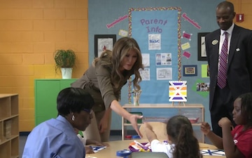 First Lady visits Andrews Youth Center