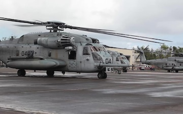 CH-53E Super Stallion helicopters depart Muñiz Air National Guard Base