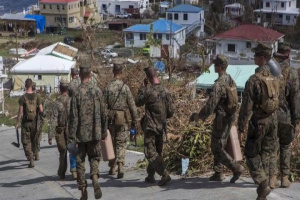 Marines assist in hurricane relief